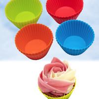 Cetakan Silikon Kue Cupcake Muffin Puding Jelly Cup Cake Bulat K031