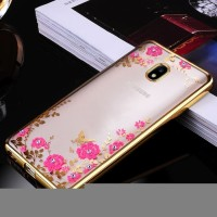 TPU FLOWER Samsung J7 Plus 2017 Dual Camera soft case casing hp cove