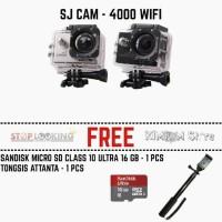 BIg Promo Terbaru - Kamera SJ4000 Wifi Monopod MMC 16 GB GoPro Xiaomi