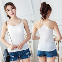 Women Tank Tops White Color Sexy Casual Sleeveless Camisole Crochet Cr