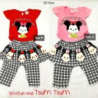 Baju Setelan Anak Perempuan Tsum Tsum