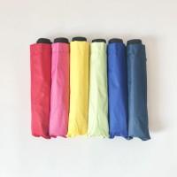 Payung lipat 3 polos warna / lapis hitam / GRC / antiuv / sablon - 011