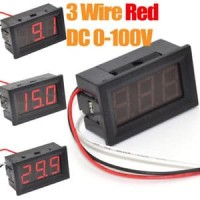 """PANEL METER RED 0,56"""" 3 WIRE DC 0-100V LED DIGITAL DISPLAY VOLTAGE"""