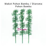 MAKET POHON BAMBU 12CM - DIORAMA POHON BAMBU 12CM