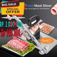 Meat Slicer Pengiris Daging Manual Yoshinoya Shabu Beef Buah Starlite