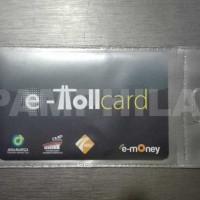 Kartu E-toll Mandiri Hitam Tulisan E-Toll Card - saldo Rp. 0,-