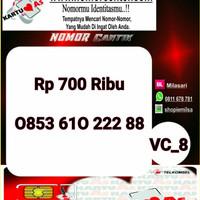Nomor Cantik ASEkor Double AA 2288- 0853 610 222 88 Rapi VC8 962