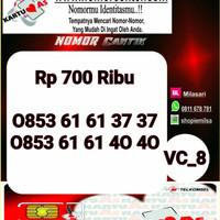 Nomor Cantik ASSeri ABAB CDCD 6161 3737- 0853 6161 3737 VC8 780