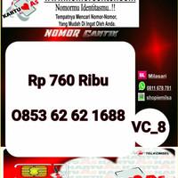 Nomer Cantik ASSeri Ilufa 168-0853 6262 1688 Hoki VC8 745