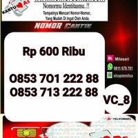 Nomor Cantik ASEkor Double AA 2288- 0853 701 222 88 Rapi VC8 961