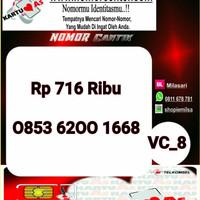 Kartu Perdana As Seri Ilufa 168- 0853 6200 1668 Hoki VC8 733