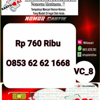 Nomer Cantik ASSeri Ilufa 168-0853 6262 1668 Hoki VC8 738