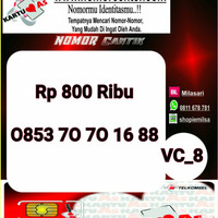 Nomer Cantik ASSeri Ilufa 168-0853 7070 1688 Hoki VC8 739
