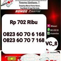 Kartu Perdana As Seri Ilufa 168- 0823 6070 6 168 Hoki VC8 735