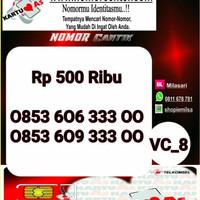 Nomer Cantik ASSeri Double AA 3300 -0853 606 333 00 VC8 971