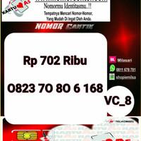 Kartu Perdana As Seri Ilufa 168- 0823 7080 6 168 Hoki VC8 729