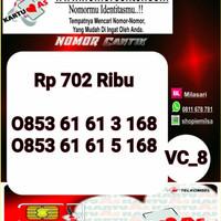 Kartu Perdana As Seri Ilufa 168- 0853 6161 3168 Hoki VC8 725