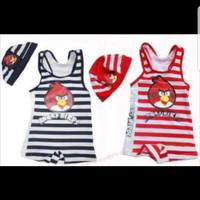 Baju Renang Anak Angry Bird Stripe