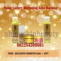Shineskin Paket Luxury Whitening Acne Radang