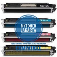 Toner cartridge compatible laserjet printer cp1025 / 1025 ce312a color
