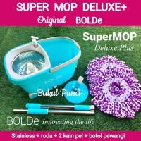 ALAT PEL LANTAI SUPER MOP Deluxe Roda Bolde Original Magic Wonder Mop