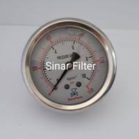 Pressure Gauge 10 Bar / 150 psi Drat Tengah merk Sanlixin
