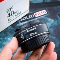 Lensa Canon 40mm F2.8 STM fullset box. mulus. pancake