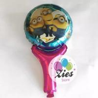 Balon foil pentungan / balon tongkat karakter minion