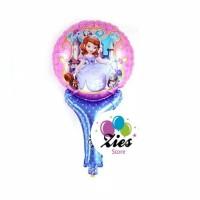 Balon foil pentungan / balon tongkat karakter princess sofia