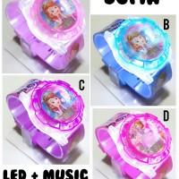 Jam tangan anak perempuan LED dan MUSIC Sofia
