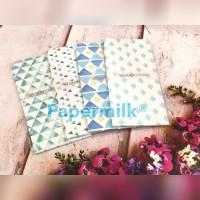 Papermilk, Amplop Watercolor, Harga Per 30 Pak, Per Pak Isi 5 pcs