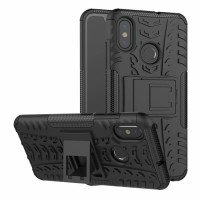 Case Xiaomi Mi8 Mi 8 softcase casing hp cover kick stand RUGGED ARMOR