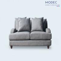 Sofa ruang tamu 2 seater - kaki kayu jati solid