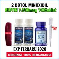 PAKET 2 MINOXIDIL + BIOTIN 7500Mcg isi 100 tablet