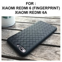 Case Xiaomi Redmi 6 - Redmi 6A softcase casing hp cover leather WOVEN