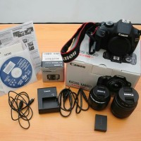 Kamera Canon 1200D & Lensa Fix 50mm f.1.8 (Like New)