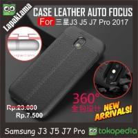 Case Leather Auto Focus Original Samsung Galaxy J3 Pro 17 / J330 2017