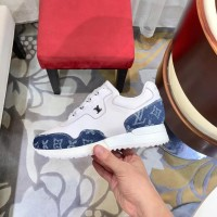 Sneaker branded lv louis vuitton keds kulit casual kw mirror 4f847cb978