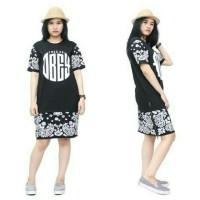 Dress pendek cewek / kaos longline original fregie swag