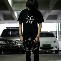 Kaos jepang huruf kanji / kaos original / kaos longline