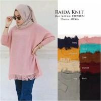 Atasan top baju sweater blouse rajut knit muslim hijab lengan panjang