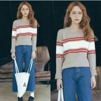 Atasan top baju blouse sweater rajut knit wanita