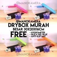Drybox Dry Box Murah DSLR & Mirroless Kedap Udara Bonus Hygrometer