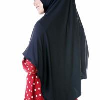 Nibras Hijab Lazulli Pashmina Instan Pad Jilbab Warna Hitam 2 Lubang