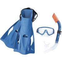 Alat Snorkeling Meridian Snorkel Set Bestway 25020 - Biru