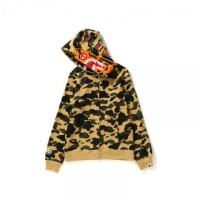 14189e33 Bape 1st Camo Tiger Hoodie Full Zip Yellow