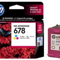 Tinta HP 678 Tri-Color Ink Cartridge Original CZ108AA Katrid HP678 Ori