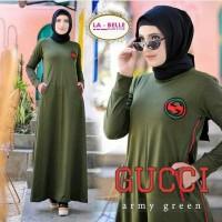 Baju Gamis Wanita Muslim Terbaru Gucci Dress Murah