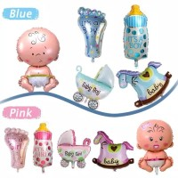 Balon Foil Set Baby Boy Mini / Balon Foil Set Baby Girl Mini