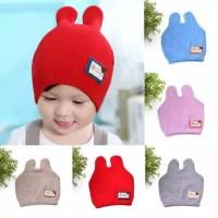Topi rajut import Beanie hat anak laki-laki dengan telinga besar 2119369ac7